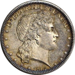 1882 Pattern Shield Earring Half Dollar. Judd-1700, Pollock-1902.