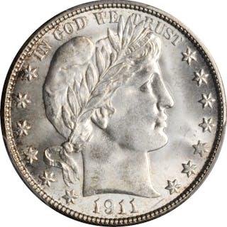 1911-D Barber Half Dollar. MS-66 (PCGS). CAC.