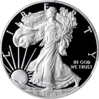 Lot of (4) 2016-W Silver Eagles. Lettered Edge. Mint Director Edmund
