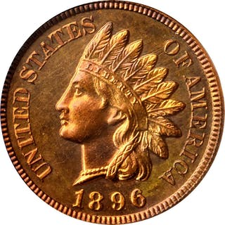 1896 Indian Cent. Snow-PR2. Proof-67 RD Cameo (PCGS).
