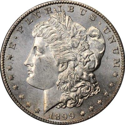 1899-S Morgan Silver Dollar. MS-64 (PCGS).