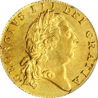 GREAT BRITAIN. 1/2 Guinea, 1801. George III. PCGS MS-62 Gold Shield.