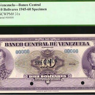 VENEZUELA. Banco Central de Venezuela. 10, 20, 50 & 100 Bolivares
