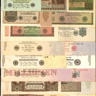 GERMANY. Mixed Banks. Mixed Denominations, Mixed Dates. P-Various.