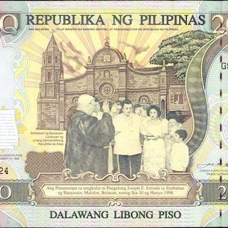 PHILIPPINES. Bangko Sentral ng Pilipinas. 2000 Piso, 1998. P-189. Uncirculated.