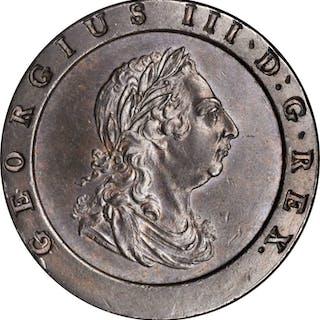 GREAT BRITAIN. 2 Pence, 1797. Soho Mint. George III. NGC MS-61 Brown.