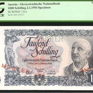 AUSTRIA. Oesterreichische Nationalbank. 1000 Schilling, 1954. P-135s.