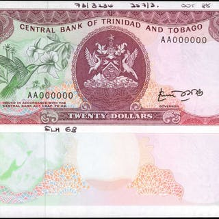 TRINIDAD & TOBAGO. Central Bank of Trinidad & Tobago. 20 Dollars