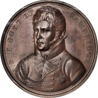 GREAT BRITAIN. Duke of Cambridge Bronze Medal, ND (1820). NGC MS-64 BN.