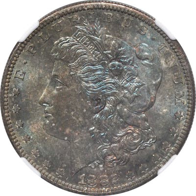 1882-S Morgan Silver Dollar. MS-66 (NGC).