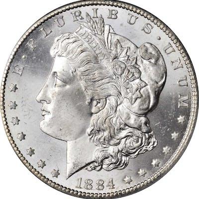 1884-CC Morgan Silver Dollar. MS-65 (PCGS).