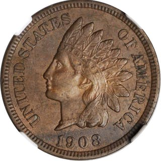 1908-S Indian Cent. AU-55 BN (NGC).