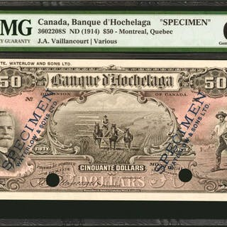 CANADA. Banque d' Hochelaga. 50 Dollars, ND (1914). CH #3602208S.