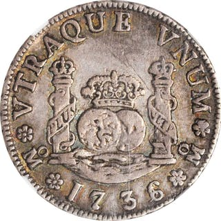 MEXICO. 2 Reales, 1736/3-Mo MF. Mexico City Mint. Philip V. NGC VF-35.