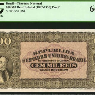 BRAZIL. Thesouro Nacional. 100 Mil Reis, Undated (1892-1936). P-Unlisted.