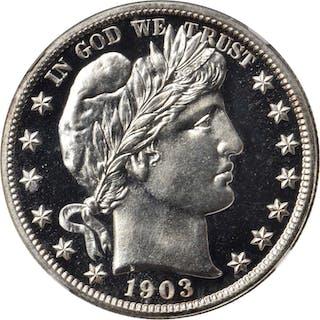 1903 Barber Half Dollar. Proof-68 Cameo (NGC).