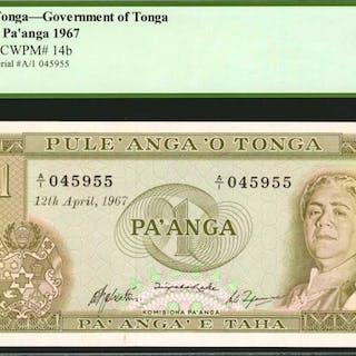 TONGA. Government of Tonga. 1 Pa'anga, 1967. P-14b. PCGS Currency