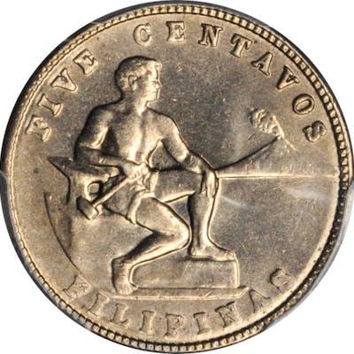 PHILIPPINES. 5 Centavos, 1941-M. Manila Mint. PCGS MS-65 Gold Shield.