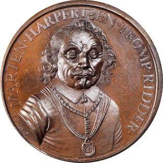 NETHERLANDS. Death of Maarten Tromp Bronze Medal, 1653 (1815). UNCIRCULATED.