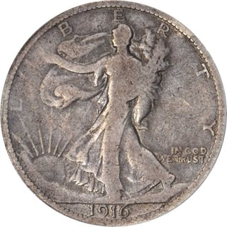 1916 Pattern Walking Liberty Half Dollar. Judd-1996/1800, Pollock-2058.