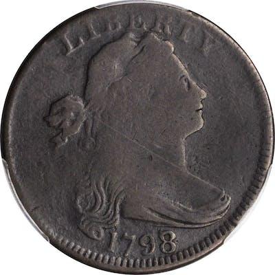 1798/7 Draped Bust Cent. Good-6 (PCGS).