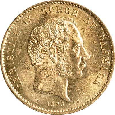 DENMARK. 20 Kronor, 1875. Christian IX. UNCIRCULATED.