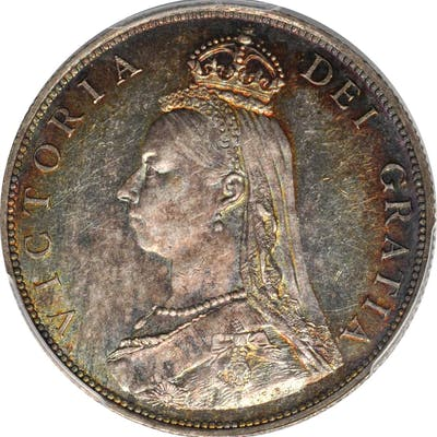 GREAT BRITAIN. Florin, 1887. London Mint. Victoria. PCGS MS-62 Gold Shield.