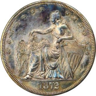 1872 Pattern Amazonian Dollar. Judd-1205, Pollock-1345. Rarity-7-.