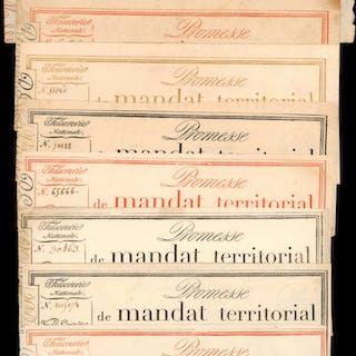 FRANCE. Mandat Territorials. Mixed Denominations, Mixed Dates. P-Various.