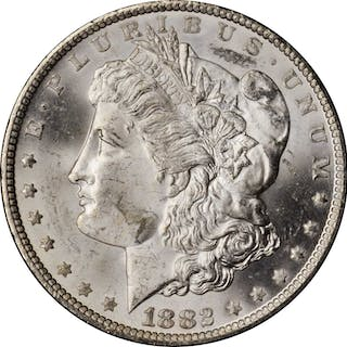 1882-CC GSA Morgan Silver Dollar. Mint State (Uncertified).