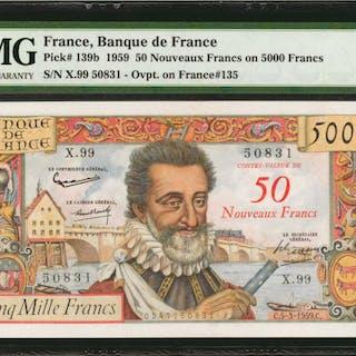 FRANCE. Banque de France. 50 Nouveaux Francs, 1959. P-139b. PMG Choice