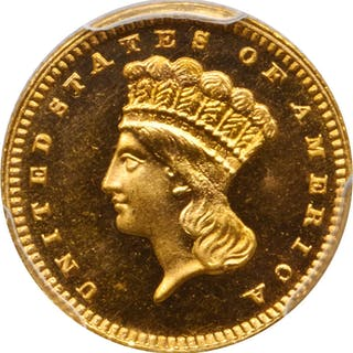 1886 Gold Dollar. Proof-66+ (PCGS). CAC.