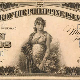 PHILIPPINES. Bank of the Philippine Islands. 10 Pesos, 1928. P-17a. Very Fine.