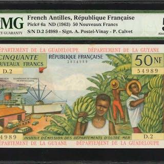 FRENCH ANTILLES. Republique Francaise. 50 Nouveaux Francs, ND (1963).