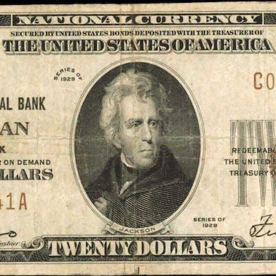 Croghan, New York. 1929 Ty. 1 $20 Fr. 1802-1. The Croghan NB. Charter
