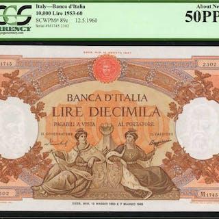 ITALY. Banca d'Italia. 10,000 Lire, 1953-60. P-89c. PCGS Currency