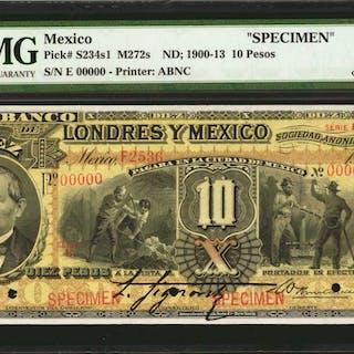 MEXICO. El Banco de Londres y Mexico. 10 Pesos, ND; 1900-13. P-S234s1.
