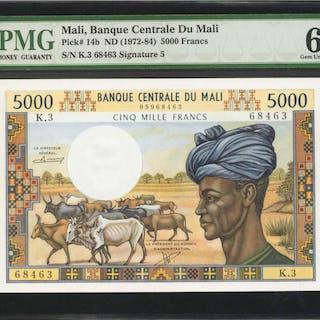 MALI. Banque Centrale du Mali. 5000 Francs, ND (1972-84). P-14b. PMG