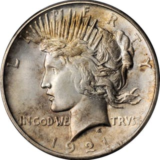 1921 Peace Silver Dollar. High Relief. MS-64 (PCGS).