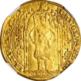 FRANCE. Franc a Pied, ND (1364-80). Charles V. NGC MS-61.