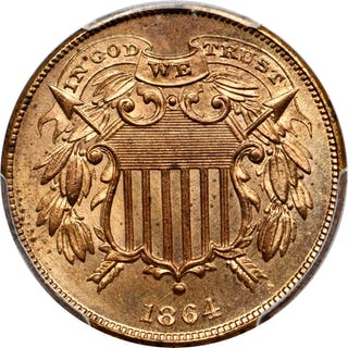 1864 Two-Cent Piece. FS-401. Small Motto. MS-65+ RD (PCGS). CAC.