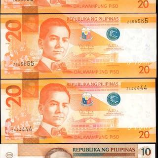 PHILIPPINES. Bangko Sentral ng Pilipinas. Mixed Denominations, Mixed