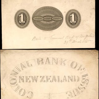 NEW ZEALAND. New Zealand Colonial Bank of Issue. 1 Dollar, ND. P-Unlisted.
