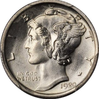 1920-S Mercury Dime. MS-63 FB (PCGS).