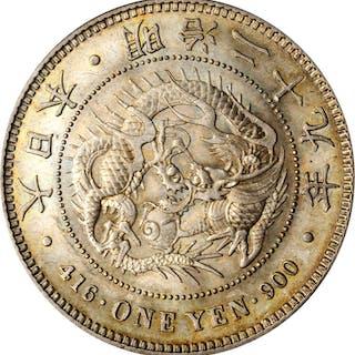 JAPAN. Yen, Year 29 (1896). Mutsuhito (Meiji). PCGS MS-63 Gold Shield.