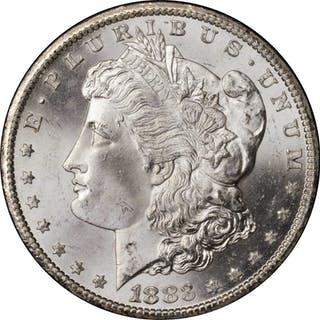 1883-CC GSA Morgan Silver Dollar. Mint State (Uncertified).