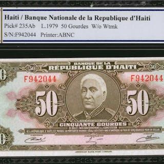 HAITI. Banque Nationale de la Republique d'Haiti. 50 Gourdes, 1979.