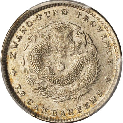 CHINA. Kwangtung. 7.2 Candareens (10 Cents), ND (1890-08). PCGS MS-62