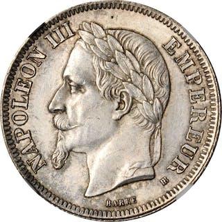 FRANCE. 2 Francs, 1866-BB. Strasbourg Mint. Napoleon III. NGC MS-63.