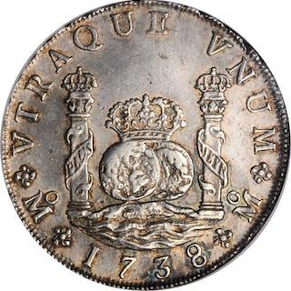 MEXICO. 8 Reales, 1738-Mo MF. Mexico City Mint. Philip V. NGC AU-55.